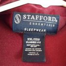 Men's Lounge Pajama Top Stafford XXL/XXG Burgundy Nylon