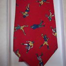 Tie Sports Tie Red Polyester 700 Fussy Tailors 3 1/2x 57 Vintage