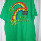 Irish Green St Patricks Men's Shirt 2XL Gildan Heavy Cotton Pot of Gold Rainbow