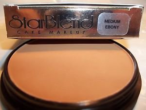 Mehron Star Blend Cake Pancake Water Base Stage Makeup Dark Shades Professional