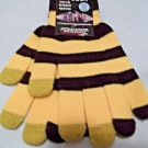 Gloves Yellow and Black Acrylic Knit Teens Adults USA Shipper