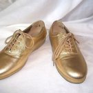 Gold Shoes Womans Tie Up East Spirit Leather  6 1/2 B/2A ES Motion