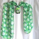 """St Patricks Scarf Shamrocks 8""""x 61"""" Polyester Stylish Holiday"""