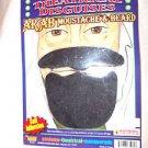 Mustache and Beard Biblical Black Self Adhesive