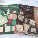 Counted Cross Stitch Patterns Vintage  Monograms Gifts Toddlers Three Books