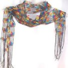 "Scarves Scarf Multicolored Polyester 62"" x  7"" Sharp Looking Scarf"