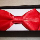 Bow Tie Childrens Red  Bowtie Hook and Clip Boxed Polyester