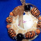 Tiger Safari Bead Bracelet Fashion Jewelry Gold and Brown