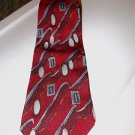 Vintage Men's Silk Tie Today's Man Italy Burgundy Print
