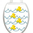 Toilet Tattoos Toilet Lid Decor Vinyl Reusable  Rubber Ducky White