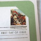 First Day of Issue History Battle of Bunker Hill  1975 Postal Com.Soc. Bicentenn