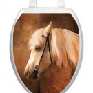 Toilet Tattoos Toilet Lid Cover  Decor Painted Horse Reusable  Vinyl