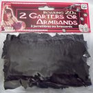 Adult Garter Armband Set Black Western 20's 30's Flapper Gangster Costume