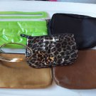 Bags Jewelry  Cosmetic Bags Small Zipper Closing Black Brown Green Five Bags