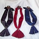 Scarves Karma Necklace Scarf with Tassles Choose Blue Cranberry Black  Stylish