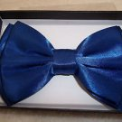 Bow Tie Bright Blue Hook and Clip Gift  Boxed Polyester