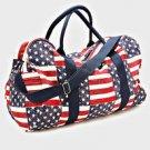 "Canvas Shoulder Bag Patriotic Flag  15"" x 20'"" Overnight Nice Gift"