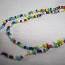 "Indian Love Beads 36"" Long Seed Beads India Love Necklace"