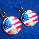Patriotic Earrings American Flag and Capitol Pierced  Fast Free Delivery USA