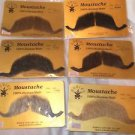 Moustaches Professional Human Hair Military Leader Grey Brown Blonde Black #2014