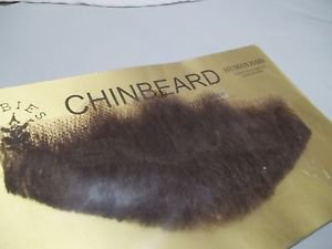 Chin Beard Human Hair Medium Brown 6 Inch Lace Net Backing Professional  2023