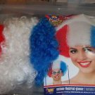 Patriotic Afro  Wig American  Red White and Blue Afro NEW Forum