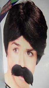 Wig Mens Costume Black with Moustache Forum 2015