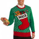 SALE Ugly Christmas Sweater  NICE Green and Red Choose your Size  Ships Free