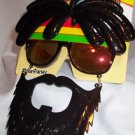 Sun Stache Rasta with Mustache Red Yellow Green Fun Party Glasses