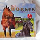 Horses II  2017 Calendar 12 Months Great Pictures 12 x 12 -  2 Calendars 6x6
