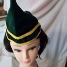 Elf Hat Green Velvet Robin Hood  Rubies Quality
