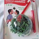 "MISTLETOE EXTENDER WAND HANGER Extend Mistletoe 30"" Holiday Kisses on the Go NEW"