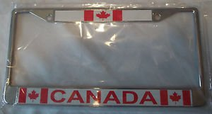 Canada Frame for Auto Tag License Sturdy  Plastic 6x12 Free Delivery