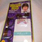 Costume Nerd Kit Bow Tie Glasses Teeth Pocket Protector Name Tag Costume
