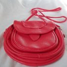 Cross Body Bag Purse Adjust Strap Pocket Zipper Faux Leather Pink