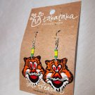 Earrings Tiger Fair Trade Global Crafts  Kenya Tiger Earrings Hand Made