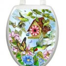 Toilet Tattoos Toilet Lid Decor Vinyl Reusable Hummingbirds LS02