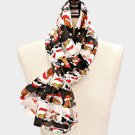 Scarves Christmas Scarf Cat and Dog Theme White Black Red Silk Like Polyester