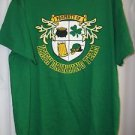 Irish Green St Patricks Men's Shirt Large IRISH DRINKING TEAM Shamrock Beer