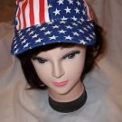 Patriotic  American Flag  Caps Red White Blue Adjustable Polyester Forum USA