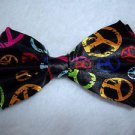 Bow Ties Peace Bowtie  Theme Black with Peace Symbol Hook and Ties Gift Box