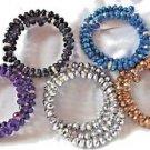 Stretch Rhinestone Bracelets Fashion Blue Purple Black Silver Golden Gift Box