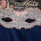 Mask Eyemask  Lace Silver Elegant Ribbon Ties Mardi Gras  Formal