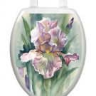 Toilet Tattoos Toilet Lid Cover  Decor Watercolor Iris Removable Vinyl