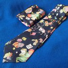 VTG Funky Tie Set Giovanni Sciarpa Black Party Pattern with Pocket Scarf Gift