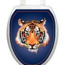 Tiger   Orange  Toilet Tattoos Bathroom Seat Lid   Decoration Vinyl Reusable