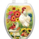 Toilet Tattoos Toilet Lid Decor Garden Bench Bathroom Reusable  Red Rooster