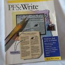 PFS:Write Version 2.0 Instruction Book  Word Processor Spinnaker