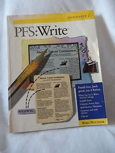 PFS:Write Version 2.0 Instruction Book  Word Processor Spinnaker
