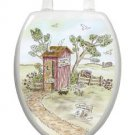 Toilet Tattoos Toilet Seat Lid Decor Lori's Outhouse Removable Reusable